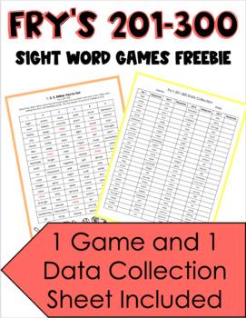 Fry's 200-300 Sight Word Baseball Game