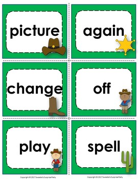Fry's 2nd 100 Flash Cards - Cowboys
