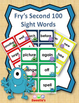 Fry's 2nd 100 Flash Cards - Monsters