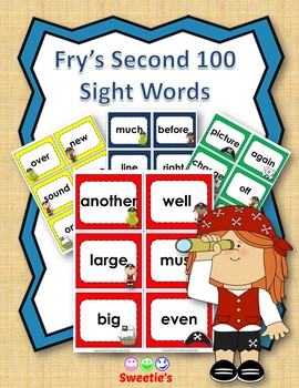 Fry's 2nd 100 Flash Cards - Pirates