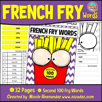 Fry Sight Words: Fry's 2nd 100 Sight Words on French Fries