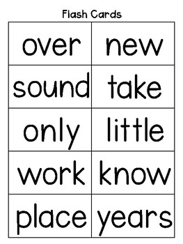 Fry's 2nd Hundred Sight Words