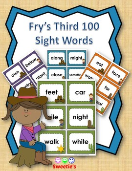 Fry's 3rd 100 Flash Cards - Cowboys
