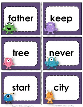 Fry's 3rd 100 Flash Cards - Monsters