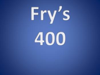 Fry's 4th 100 Sight Words Interactive