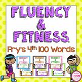 Fry's 4th 100 Sight Words Fluency & Fitness Brain Breaks Bundle