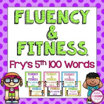 Fry's 5th 100 Sight Words Fluency & Fitness Brain Breaks Bundle