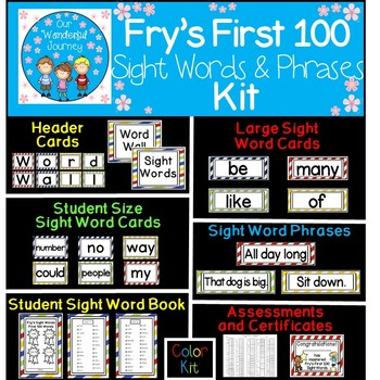 Fry's First 100 Color Sight Words & Phrases Kit