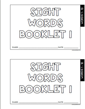 Fry's First 100 Sight Word Booklets