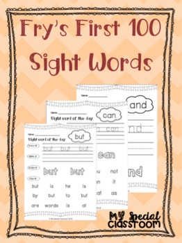 Fry's First 100 Sight Word Bundle!