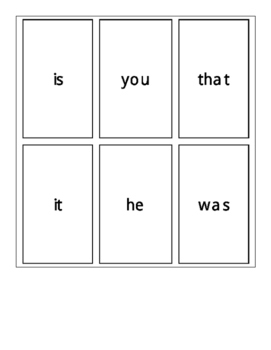 Fry's First 100 Sight Word Cards Set 1