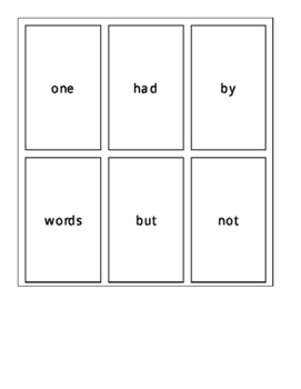 Fry's First 100 Sight Word Cards Set 2