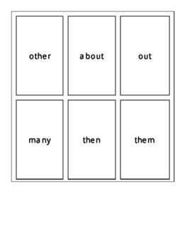 Fry's First 100 Sight Word Cards Set 3