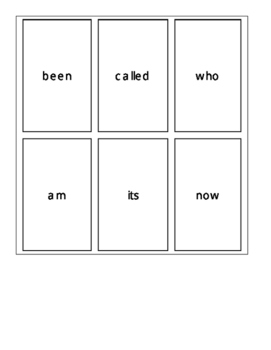 Fry's First 100 Sight Word Cards Set 4