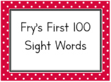 Fry's First 100 Sight Word Flash Cards