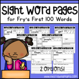Fry's First 100 Sight Word Pages