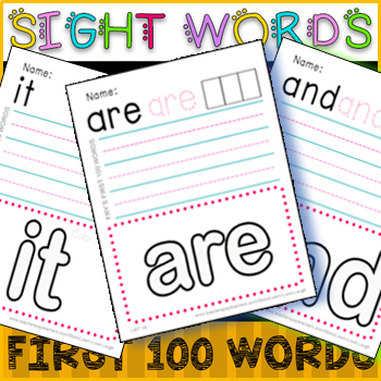 Fry Sight Words Fluency BUNDLE / ★★★★ First 100 Fry Words / Printables