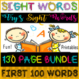 SIGHT WORDS FLUENCY BUNDLE / FRY'S FIRST 100 / CHARTS / WO