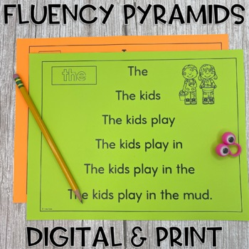 Fry's  First 100 Sight Word Sentence Fluency Pyramids