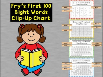 Fry's First 100 Sight Words Clip Chart