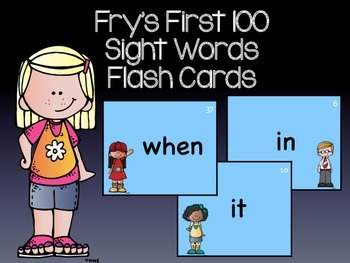 Fry's First 100 Sight Words Flash Cards