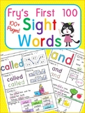 Fry's First 100 Sight Words - High Frequency Words - Worksheets RF.K.3.c