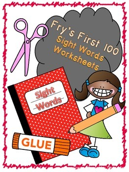 Fry's First 100 Sight Words worksheets