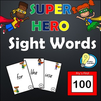 Superhero Sight Words! First 100 Flash Cards