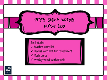 Fry's First 100 Weekly Sight Word Work
