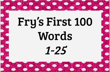 Fry's First 100 Words 1-25