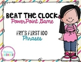 Fluency Fry's First 100 Phrases Beat the Clock Game