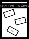 Fry's First 100 Words Flash Cards | LCI Movement