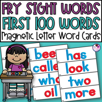 Fry's First 100 Words Magnetic Letters Word Cards 2 Complete Sets