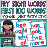 Fry Sight Words First 100 Words Magnetic Letters Word Cards 2 Complete Sets