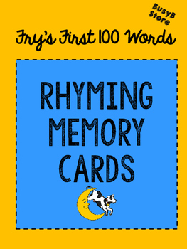 Fry's First 100 Words Memory and Rhyme Cards
