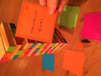 Fry's First 100 Words - Rainbow Jenga Cards