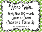 Blue and Green Word Wall (Fry Words)