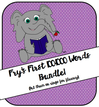 Fry's First 100 to 1000 Word List Bundle!
