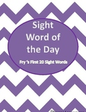 Sight Word of the Day (First 20 Words)