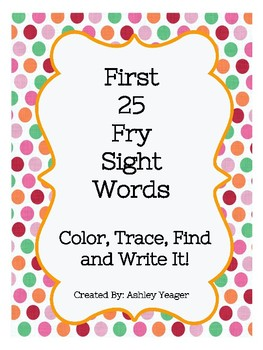 Fry's First 25 Sight Words