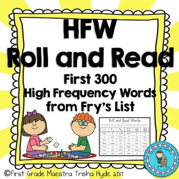 No Prep Fry's First 300 Sight Words Game Roll and Read Sig