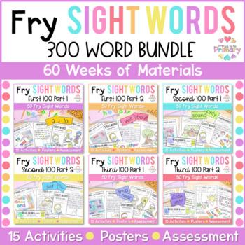 Fry's First 300 Words Sight Words Program BUNDLE