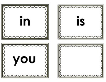 Fry's First 50 Words Flash Cards