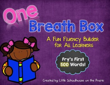 Fry's First 500 Sight Words - One Breath Boxes