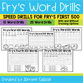 Fry's First 500 Word Drills - High Frequency Word Practice