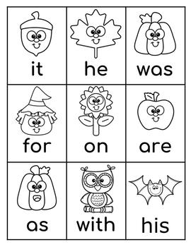 Fry's First 54 Sight Words Game