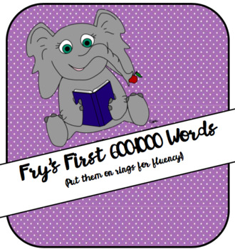 Fry's First 600 to 1000 Word List Bundle!