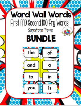 Fry's First and Second 100 sight words BUNDLE