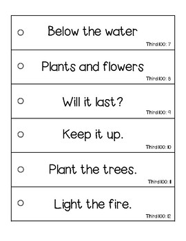 Fry's Fluency Phrases - Third 100