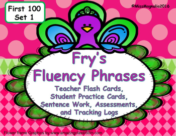 Fry's Fluency Phrases and Sentence Practice Set 1